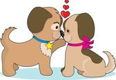 собаки в любви — Cтоковый вектор