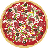 Pizza Whole — Stock Vector