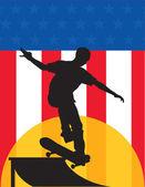 Skater, stany zjednoczone ameryki — Wektor stockowy