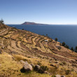 Taquile island, Titicaca lake, Peru - Stock Photo