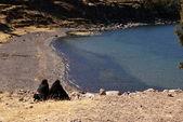 Amantani island, Titicaca lake, Peru — Stock Photo
