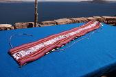 Souvenir, Taquile island, Titacaca lake, Peru — Stock Photo