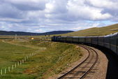 Trans-Siberian Railway , Mongolia — Stock Photo