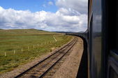 Trans-Siberian Railway , Mongolia — Stock Photo