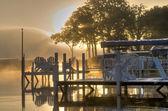 Wschód słońca w okoboji, iowa — Zdjęcie stockowe