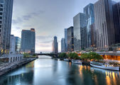 HDR of Chicago in the Early Morning — Stock Photo