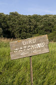 Bird Watching Sign — Stock Photo