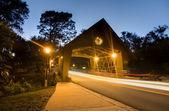 Bridge with Traffic Blur — Stock Photo