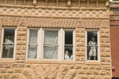 Window with Mannequins. — Stock Photo