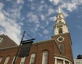 Historic Park Street Church in Boston — Stock Photo
