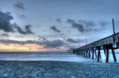 HDR OF Tybee Beach — Stock Photo