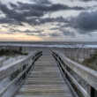 HDR of Beach in Tybee Island, Georgia - Stock Photo