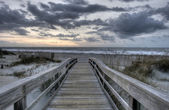 HDR of Beach in Tybee Island, Georgia — Stock Photo