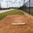 Stock Photo: Practice Pitching Mound
