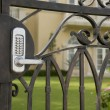 Security Gate at Luxury Home — Stock Photo