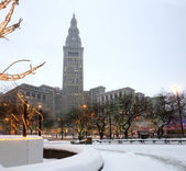 Cleveland at Winter — Stock Photo