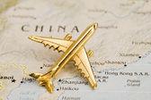 Plane Over China — Stock Photo