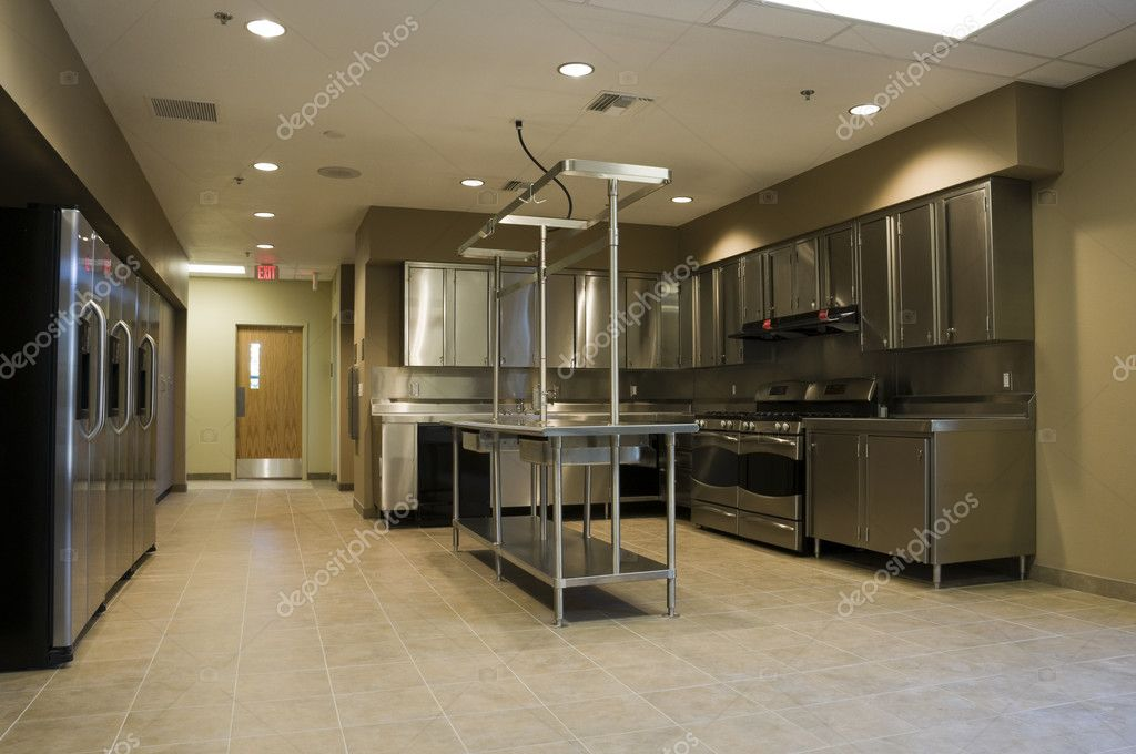 Interior of Kitchen at Fire Station — Stock Photo #7197671