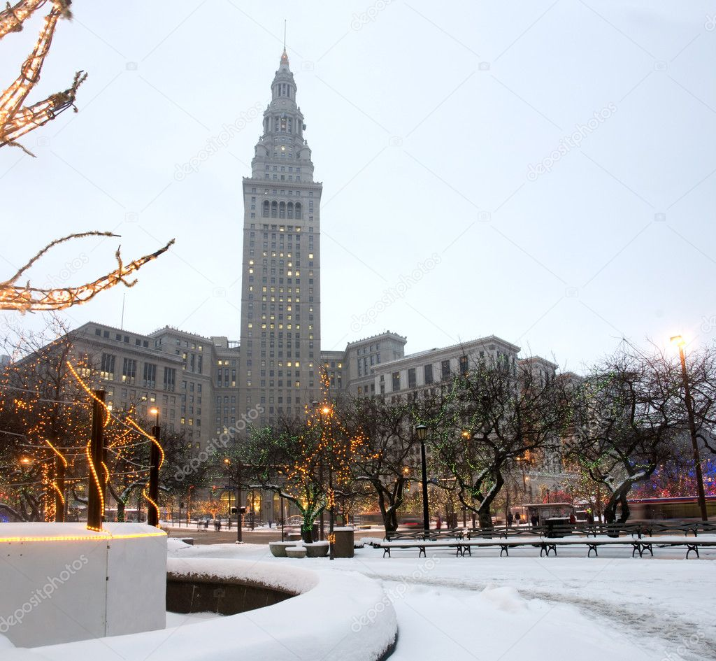 Cleveland at Winter in Ohio.  Stock Photo #7198034