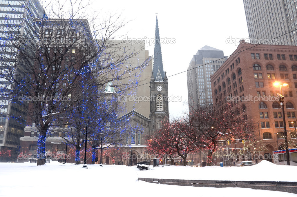 Cleveland at Winter in Ohio. — Stock Photo #7198044
