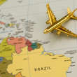 Stock Photo: Plane to South America