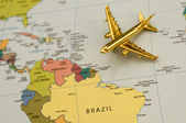 Plane to South America — Stock Photo