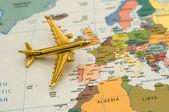 Plane to Europe — Stock Photo