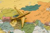 Plane Over Asia — Stock Photo