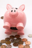 Piggy Bank, Lens Baby used to Blur Outside Edges — Stock Photo