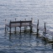 Dock at Lake Okoboji - 图库照片