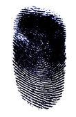 黑色墨水指纹 — 图库照片