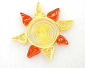 Papier słońce pióro — Zdjęcie stockowe