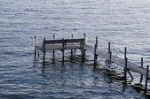 Dock am lake okoboji — Stockfoto