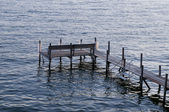 Dock at Lake Okoboji — Stock Photo