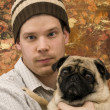 Man and His Dog — Stock Photo