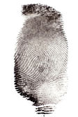Black Ink Fingerprints — Stock Photo