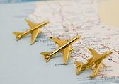 Three Planes Over California — Stock Photo