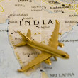 Plane Over India - Stock Photo