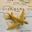 Stock Photo: Plane Over India