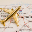 Stock Photo: Plane Over North Carolina