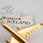 aereo sopra l'Islanda — Foto Stock