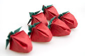 Origami Strawberries — Stock Photo