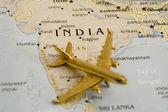 Plane Over India — Stock Photo
