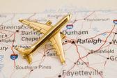 Plane Over North Carolina — Stock Photo