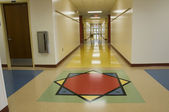 Hallway at Elementary School — Stock Photo