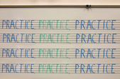 Practice in Band Room — Stock Photo