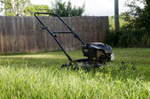 Lawn Mower on Grass — Stock Photo
