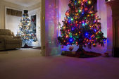 House Decorated for Christmas — Stock Photo