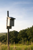 Birdhouse in Iowa — Stock Photo