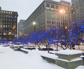 Downtown Cleveland Ohio During Winter. — Foto de Stock
